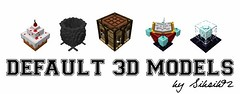 3D Models for Default Resource Pack 1.9.2/1.9/1.8.9 (MinhStyle) Tags: game video games gaming online minecraft