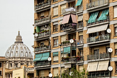 Incongruous (Fairy_Nuff (new website - piczology.com!)) Tags: italy vatican rome st san apartments flats dome balconies peters awnings pietro incongruous