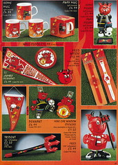 Manchester United - Official Merchandise Catalogue - 1994 - Page 27 (The Sky Strikers) Tags: old red classic manchester souvenirs official united fred merchandise 1994 collectors trafford catalogue the leisurewear