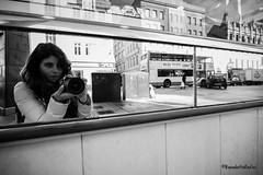 Me in Belfast, North Ireland (benedettarefini) Tags: street ireland blackandwhite belfast persone streetphoto autoritratto specchio selfie allaperto northireland