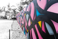 Wynwood Fence Friday (Jeronimo Photography) Tags: pink blue art yellow fence graffiti florida miami selectivecolor 24105 hff wynwood canon6d sigma24105 happyfencefriday wynwoodwalls sigmaart