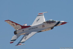 F-16C - Thunderbird #5 (Pasley Aviation Photography) Tags: gun martin 5 top luke airshow f16 falcon thunderbirds moment fighting lockheed viper usaf thunderbird afb 2016 f16c