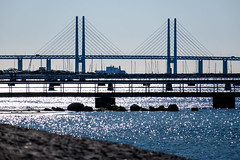resundsbron (Hkan Dahlstrm) Tags: bridge sea beach photography se skne sweden cropped malm f71 resund ribersborg resundsbron 2016 skneln xe2 xc50230mmf4567ois sek 2111042016165105