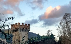 Medieval tower in Vicopisano. (Vicopisano, Italy) (francescodipaco) Tags: sky italy cloud tower history architecture sony medieval pisa brunelleschi vicopisano