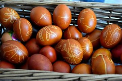 Painted Eggs (natasajesic123) Tags: colour painting easter colours basket traditional egg eggs wax tradition orthodox serbian happyeaster eggcracking