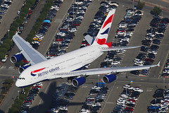 British Airways Airbus A380-841 G-XLEG (Mark Harris photography) Tags: plane canon aircraft lax spotting