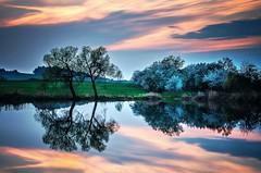 Soumrak maluje / Twilight paints (zdenals) Tags: sunset sky sun lake water landscape waterfall pond czech pentax outdoor ngc lakes serene mere ricoh watercourse moravia k30 da1770 pentaxflickrtrophy