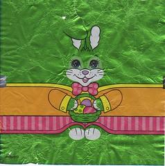 Green Rabbit Pelt (TedParsnips) Tags: rabbit bunny easter candy foil easterbunny pelt chocolatebunny