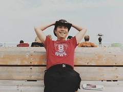 Happy Camper on the Ferry (whataride247) Tags: motorcycletouring