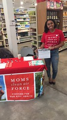 Photos from Tabling at Moms Organic Market in VA on February 12th and April 8th