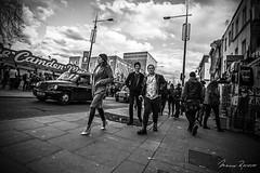 Gang / 18:13, Walking around the neighborhood (Mario Rasso) Tags: street uk blackandwhite bw london blancoynegro nikon europa europe market camden streetphotography londres british camdentown fleetstreet camdenlock nikond800 mariorasso