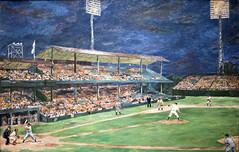 Night Baseball at Griffith Stadium (1951) (Bill in DC) Tags: leica art washingtondc baseball 1951 2014 griffithstadium thephillipscollection leicadeluxe6