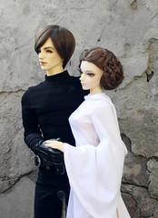 Star Wars cosplay (HyperLaceAlchemists) Tags: star cosplay luke bjd wars fairyland leia skywalker impldoll