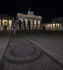 Brandenburger Tor (Mister V) Tags: light berlin monument night germany gate pillar brandenburggate brandenburg vertorama