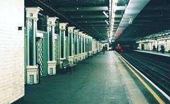 Stepney Green Underground Station (2) (Matthew Huntbach) Tags: station londonunderground districtline eastlondon fujisuperia1600 stepneygreen