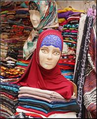 big eyes (mhobl) Tags: mannequin shop scarf morocco medina fes kopftuch moroc hingebrselt