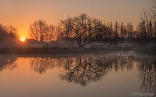 Sunrise over Barcombe Mills