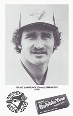 1979 Blue Jays Bubble Yum (Exhibition Stadium Give Away) - Dave Lemanczyk #15 / #23 (Pitcher) - Baseball Photo (Toronto Blue Jays) (WhiteRockPier) Tags: gum cards photo blackwhite baseball bluejays sga jays pitcher 1979 mlb torontobluejays bubbleyum davelemanczyk stadiumgiveaway