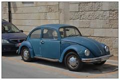 No mirrors ... (junepurkiss) Tags: italy vintagecar sicily siracusa vwbeetle bluecar