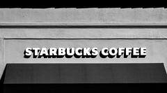 Coffee Time (Thomas Hawk) Tags: california bw usa coffee unitedstates unitedstatesofamerica starbucks burlingame southbay