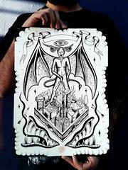 Solve et coagula (Bastian Klak) Tags: city pee illustration ink wings artwork graphics evil satan devil sharpie dots et destroy liner solve posca klak coagula bastianklak dotswork