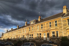 Terrace (Nige H (Thanks for 5m views)) Tags: houses sky cloud weather bath terrace stormy stormyweather terracedhouses oldfieldpark