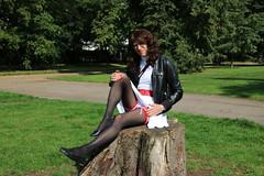 LONDON_009730 (Kira Dede, please comment my photos.) Tags: london stockings lingerie upskirt crossdresser 2015 kirad kiradede