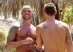 IMG_0876 Tommeboom (danimaniacs) Tags: shirtless man sexy guy smile tattoo beard mexico back muscle muscular hunk jewelry puertovallarta stud scruff