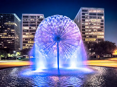 Almost There - Houston Texas (Sky Noir) Tags: city fountain memorial houston dandelion gus wortham