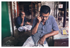 ".... (Rahat ""ArchQuad"" Amin) Tags: people men mobile nikon call phone documentary cell lifestyle dhaka seating talking bangladesh d610 archquad"