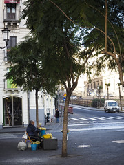 Venditore ambulante di fiori (mirkogiannetti) Tags: streetphotography 8 fiori marzo catania venditore ambulante streetphotographycatania