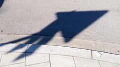 Fly triangle fly (raumoberbayern) Tags: shadow abstract sign triangle minimal schild schatten abstrakt zeichen robbbilder dreieck urbanfragments