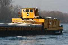 Pniche sur le Rhin au niveau de Seltz (Alsace, Bas-Rhin, France) (bobroy20) Tags: france alsace pniche fleuve basrhin rhin seltz navigationfluviale