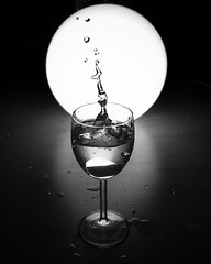 Backlit Splash (Janine4d) Tags: water glass lamp droplets wine panasonic backlit 20mm splash g3