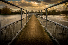 Winters Afternoon (Steven's Photo's) Tags: winter sunset water path olympus riverthames oxfordshire weir leadinglines hambledenlock epl3