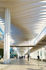 Promenade (Kym.) Tags: people architecture walking spain walk arcade promenade andalusia andalucia malaga