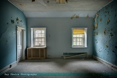 The Blue Room (Ray Skwire) Tags: history abandoned grit ancient dirt forgotten curtains ghosts dust grime peel decrepit filth derelict urbex