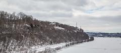 Crossing the Mississippi River - Dubuque, Iowa (Tony Webster) Tags: railroad bridge winter snow wisconsin river landscape us illinois unitedstates bridges rail railway iowa mississippiriver dubuque bnsf jamestown eastdubuque grantcounty us151 us61 route61 bnsfrailway hazelgreen juliendubuquebridge cityislandbridge route151 usroute61 eaglepointbridge usroute151 dubuquewisconsinbridge