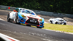 Lexus RCF GT3 duo fighting it out in the karussell (ronenyard) Tags: cars car sport race germany track automotive racing motorsport lexus gt3 nordschleife nrburgring nurburgring nrburg rcf karussel 500px ifttt