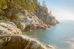 Soft (briantolin) Tags: ocean sea seascape canada nature water rock vancouver forest landscape waves britishcolumbia shoreline calm pacificocean lighthousepark