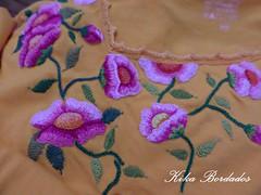KikaBordados Kika  Krauss 103 (Kika Bordados by Angelica Krauss) Tags: pink flowers flores handmade embroidery laranja crochet tshirt amarelo bordados manualidades croche embroider feitomo camisetabordada camisetabordadamo bordadosfeitomo kikabordadoskikakrauss