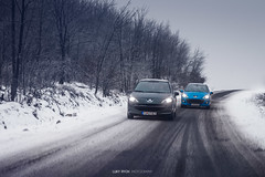 Peugeot 207 & Peugeot 207 (Luky Rych) Tags: road trees winter white snow cold cars ice car canon french photography photo europe automotive lonely peugeot 207 snowly 100d