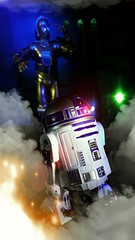 No not that way (custombase) Tags: starwars r2d2 c3po 6inch blackseries revoltech