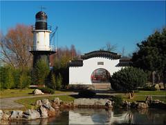 In the IGA Park Rostock (Ostseetroll) Tags: lighthouse geotagged deutschland deu rostock leuchtturm mecklenburgvorpommern igapark schmarl geo:lat=5413980870 geo:lon=1208399680