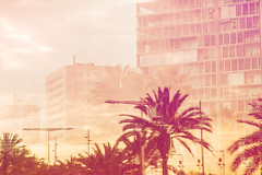 Vice City. (arturii!) Tags: barcelona street city trip travel light sunset sky urban building colors beauty skyline architecture clouds wow amazing nice interesting spain holidays colorful europe mediterranean cityscape tour superb miami doubleexposure awesome great bcn cities streetphotography vice catalonia retro route palmtrees 80s stunning videogame viatge catalunya moment gta magical vacations impressive gettyimages arturii arturdebattk canonoes6d