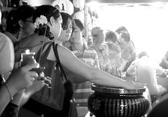 Together (sally_tregear) Tags: summer people blackandwhite streets festival respect melbourne chinesenewyear prey