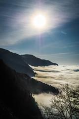 Au dessus des nuages (Maxime Bonzi) Tags: haute savoie salève mont saleve mountain clouds sun soleil contre jour montée randonnée an hautes genevois saint nouvel julien
