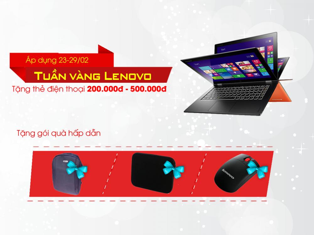 Tuần lễ vàng Lenovo - Mua laptop giá sốc, tặng quà liền tay