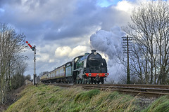 777. Approaching Quorn . (Alan Burkwood) Tags: steam locomotive 777 sr quorn n15 maunsell gcr sirlamiel kingarthurclass