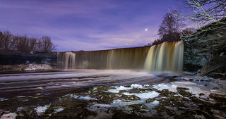 Jägala fall @ night